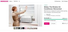 U型空调在indiegogo网站发起的众筹收到资金超过预期70倍